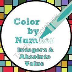 Color by Number - Integers and Absolute Value Fun! from Mathematic Fanatic on TeachersNotebook.com -  (6 pages)  - Make a boring topic into something fun!  Solve integer and absolute value problems to complete the color-by-number activity.  Your kids will love it!