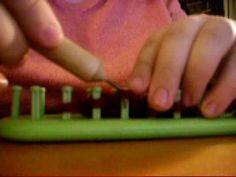 Slip Stitch with Yarn in Front in Loom Knitting (slip wyif) - YouTube