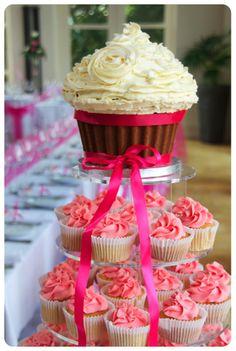 orang, blue, cake smash, giant cupcakes, big cupcak