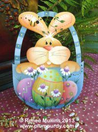 #505  Easter Bunny Basket (Nightlight/Ornament Kit)