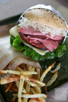 Mouth+Watering+Tasty+Reuben+Burger+-+Tried+and+Tasty