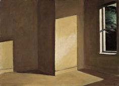 """Sun in an empty room - Edward Hopper, 1963 """"I've always been intrigued by an empty room,"""" Hopper told a friend. """"When we were in school, we would debate about what a room looked like when there was nobody to see it."""""""
