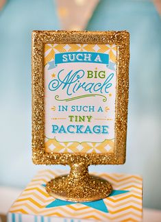 Modern Blessings Baby Shower - Party Sign (for the next baby Leady someday)