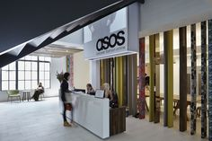 ASOS London Headquarters  #reception #reception_desk,  #reception_design, #reception_area reception desks,  reception design, reception area