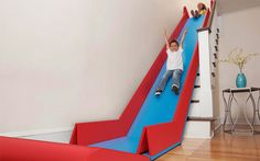 The+SlideRider+Turns+Stairs+Into+A+Slide