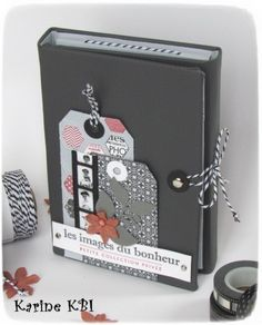 Mini-album portefeuille ... De scrapbooking