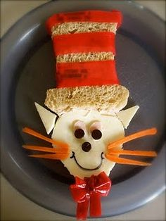 Lunch box - Cat in the Hat Sandwich. Who thinks of this stuff?