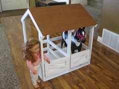 american girl horse stables - Google Search favorit idea, girl doll, fun craft, american girl horse, horse stables, horses, hors stabl, diy, american girls
