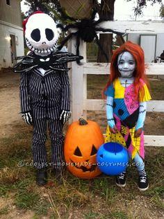 Jack and Sally Kids Costume... 2014 Costume Contest