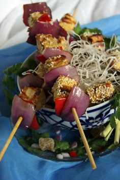 Tofu Satay with Crispy Vermicelli Noodles | Made Just Right by Earth Balance