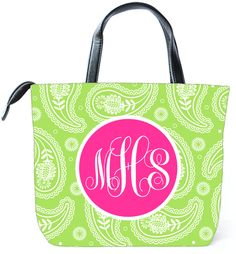 Customized Monogram Bag TinyTulip.com We're All About Personalization - Gifts Monogram Embriodery