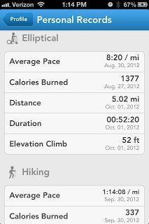 Run Keeper app for exercise -