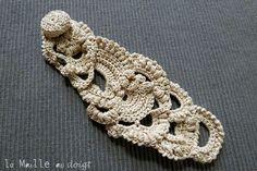Bracelets dentelles, free form crochet