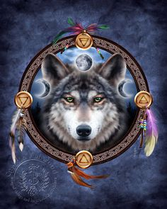 wicca | The Wolf Guide Pagan Wiccan Print Brigid by BrightArrow