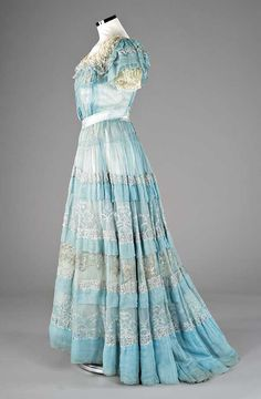 Rare Lucile ball gown, circa 1904, via Kerry Taylor Auctions.