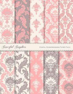 Digital Scrapbook Paper Pack Scrapbooking by GracefulGraphics, $3.00