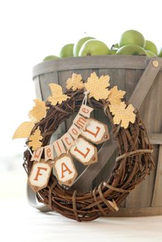 Welcome Fall Wreath. Make It Now in Cricut Design Space