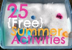 The Iowa Farmer's Wife: 25 {Free} Summer Activities