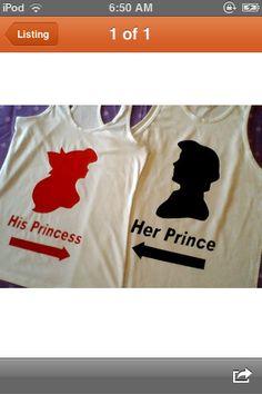 More cute couple shirt ideas c: