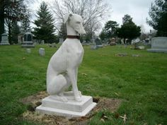The Lucas Countyan: Graveyard dogs - Southern Iowa's best known cemetery dog probably is the sculpted greyhound located on the Thomas J. Nash lot in Ottumwa's big city cemetery. It was vandalized during 2004, then restored and put back into place. This is a city of Ottumwa photo of it.