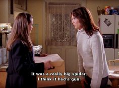 kitchens, guns, spiders, bugs, alexis bledel, girl quotes, gilmore girls, gilmor girl, apartments