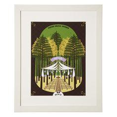 PERSONALIZED RUSTIC FOREST WEDDING SCENE   custom, illustrated wedding art   UncommonGoods