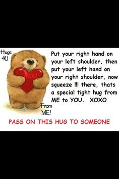 HUGS TO YOU ALL!