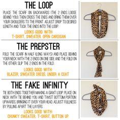 3  Basic  Ways  To  Wear  A  Scarf