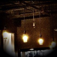 Beer bottle lights @Manito Tap House