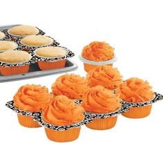 These oven-safe trays bake cupcakes, then tear apart to serve single treats!