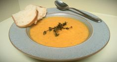 Roasted Carrot-Thyme Soup with Cream