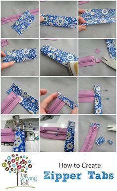 Zipper Tabs & Anatomy 101 - The Sewing Loft