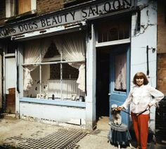 Kim's, London, England, United Kingdom, 1984, photograph by John Londei. Kim's opened in Maida Vale in 1955, named for the owner's pet poodle. Eventually the building was redeveloped and now is an office..