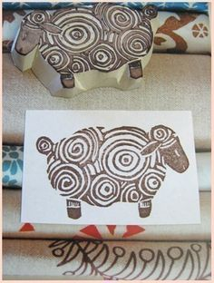 hand carved sheep stamp #undefined