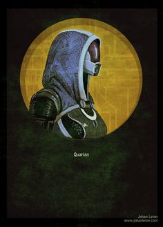 Mass Effect Poster: Quarian by Johan Leion