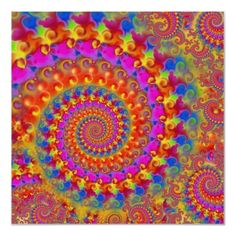 #Hippy #Fractal Pattern #Pink Turquoise & Yellow #Poster $20.25
