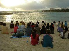 Sivananda Ashram Yoga Retreat: Silent Meditation at Sunrise on the Beach