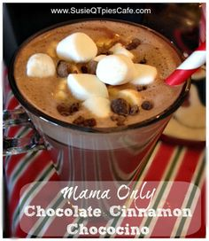 Mama Only Chocolate Cinnamon Chococino Christmas Drink Recipe