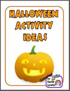 Free Halloween Activity Ideas Ebook!