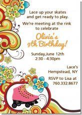 Roller skating birthday party invitations!