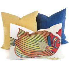 Colorful Tropical Fish Decorative Pillow Cover 14x20  by PopOColor, $50.00 Etsy