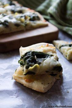 Spinach and Artichoke Dip Pizza
