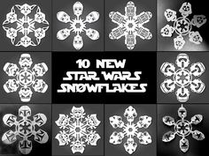 craft, templates, war snowflak, starwar, stars, paper snowflakes, star wars, papers, christma