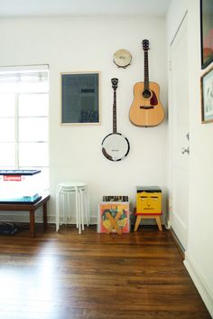 Still loving the look of instruments on the walls.