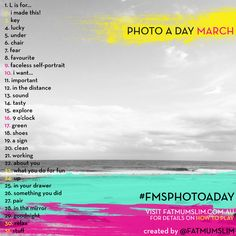 March 2013 Photo A Day Challenge list
