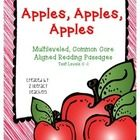 Apples, Apples, Apples is a multileveled passages set. Included in this set are four passages on the same topic at four different text levels, C - ...