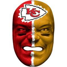 Franklin Sports 6991F21 NFL Kansas City Chiefs Fan Face Mask