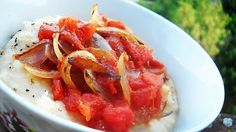 Mashed Butter Beans with Tomato Sauce