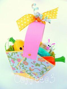 Coffee @ 3: Easy Paper Easter Basket Tutorial