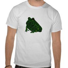 Funky Frog Art Tshirts #frogs #shirts #funny #art #animals #zazzle #petspower